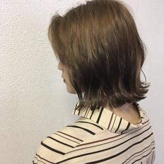 ボブ 切りっぱなし 春 外ハネ ヘアスタイルや髪型の写真・画像