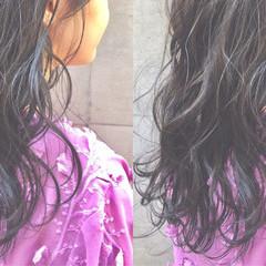 黒髪 フェミニン 女子会 デート ヘアスタイルや髪型の写真・画像