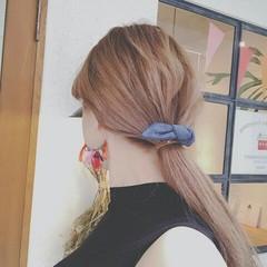 ポニーテール 外国人風 秋 ロング ヘアスタイルや髪型の写真・画像