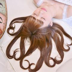 ヘアアレンジ ガーリー セミロング ゆるふわ ヘアスタイルや髪型の写真・画像