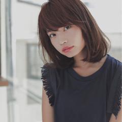 ストリート 小顔 前髪あり 大人女子 ヘアスタイルや髪型の写真・画像