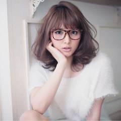 ゆるふわ フェミニン ミディアム 大人かわいい ヘアスタイルや髪型の写真・画像