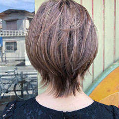 ナチュラル ダブルカラー ハイライト ショート ヘアスタイルや髪型の写真・画像