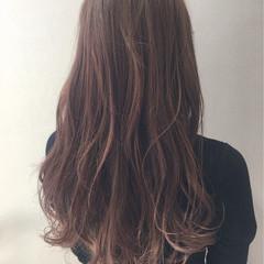 ロング ラベンダーピンク ラベンダーアッシュ イルミナカラー ヘアスタイルや髪型の写真・画像