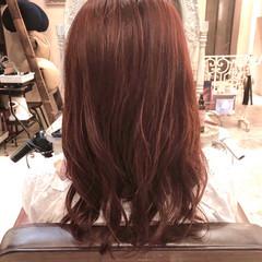 デジタルパーマ 韓国ヘア コテ巻き風パーマ フェミニン ヘアスタイルや髪型の写真・画像