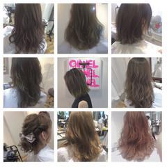 ボブ グラデーションカラー アッシュ ナチュラル ヘアスタイルや髪型の写真・画像