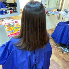 デジタルパーマ 艶髪 縮毛矯正ストカール ナチュラル ヘアスタイルや髪型の写真・画像