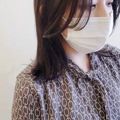 ミディアム くびれミディ 外はね 韓国ヘア ヘアスタイルや髪型の写真・画像