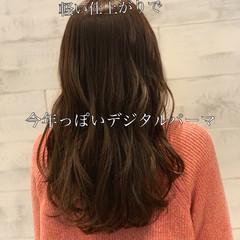 透明感カラー オルチャン セミロング 大人かわいい ヘアスタイルや髪型の写真・画像