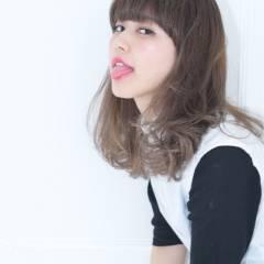 黒髪 シースルーバング 外国人風 ガーリー ヘアスタイルや髪型の写真・画像