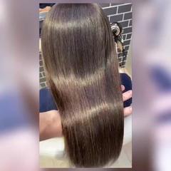 トリートメント ロング 髪質改善トリートメント ストレート ヘアスタイルや髪型の写真・画像