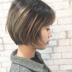 ショート ハイライト ショートボブ ハイトーン ヘアスタイルや髪型の写真・画像