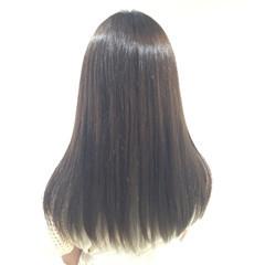 ハイライト ナチュラル ロング アッシュ ヘアスタイルや髪型の写真・画像