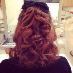 ボブ コンサバ ヘアアレンジ モテ髪 ヘアスタイルや髪型の写真・画像