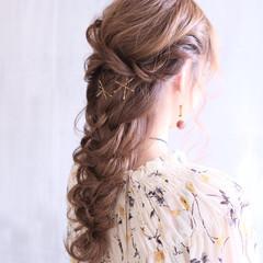 結婚式 ヘアアレンジ 簡単ヘアアレンジ デート ヘアスタイルや髪型の写真・画像