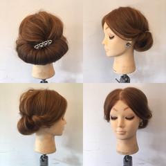 大人女子 パーティ セミロング エレガント ヘアスタイルや髪型の写真・画像