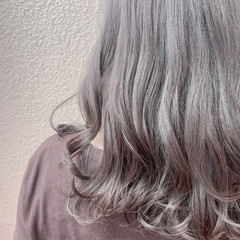 外国人風カラー 大人可愛い ブリーチなし ミディアム ヘアスタイルや髪型の写真・画像