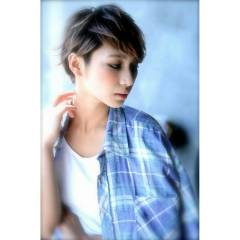 モテ髪 コンサバ パンク ショート ヘアスタイルや髪型の写真・画像