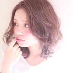 ワンレングス ボブ ガーリー フェミニン ヘアスタイルや髪型の写真・画像