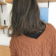 アンニュイ ゆるふわ ハイライト ロブ ヘアスタイルや髪型の写真・画像