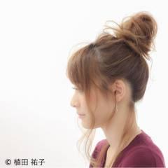 ヘアアレンジ セミロング 大人かわいい ゆるふわ ヘアスタイルや髪型の写真・画像