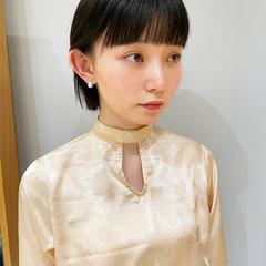ショートヘア 簡単スタイリング ミニボブ ナチュラル ヘアスタイルや髪型の写真・画像