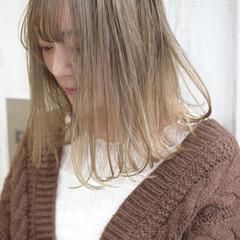 ボブ ミルクティーブラウン クリームブロンド ミルクティーベージュ ヘアスタイルや髪型の写真・画像
