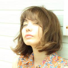 おフェロ ミディアム アッシュ 大人かわいい ヘアスタイルや髪型の写真・画像