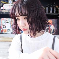 外ハネ 大人かわいい 外国人風 ボブ ヘアスタイルや髪型の写真・画像