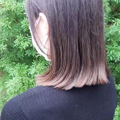 モード ミディアム 切りっぱなしボブ ミニボブ ヘアスタイルや髪型の写真・画像