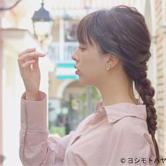 セミロング デート 女子会 ヘアアレンジ ヘアスタイルや髪型の写真・画像