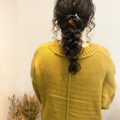 ヘアアレンジ ヘアセット セミロング フェミニン ヘアスタイルや髪型の写真・画像