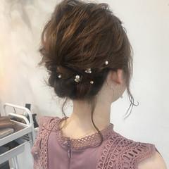 お呼ばれヘア ボブ フェミニン 結婚式 ヘアスタイルや髪型の写真・画像
