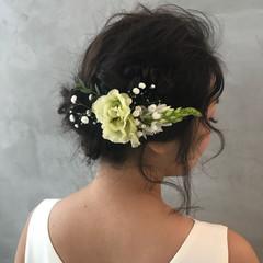 二次会 大人かわいい フェミニン ヘアアレンジ ヘアスタイルや髪型の写真・画像