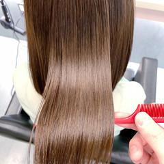 最新トリートメント 髪質改善 髪質改善トリートメント ナチュラル ヘアスタイルや髪型の写真・画像