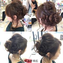 ヘアアレンジ 結婚式 アップスタイル 編み込み ヘアスタイルや髪型の写真・画像