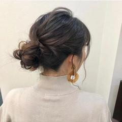 おだんご 簡単ヘアアレンジ セルフヘアアレンジ ヘアアレンジ ヘアスタイルや髪型の写真・画像