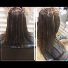 ハイライト デザインカラー 髪質改善トリートメント 大人ハイライト ヘアスタイルや髪型の写真・画像