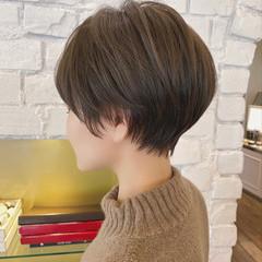 ナチュラル ショートヘア ショート 丸みショート ヘアスタイルや髪型の写真・画像