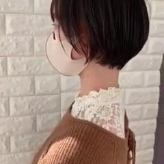 インナーカラー ショートボブ ショートヘア 透明感カラー ヘアスタイルや髪型の写真・画像