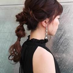 デート 結婚式 ロング モード ヘアスタイルや髪型の写真・画像
