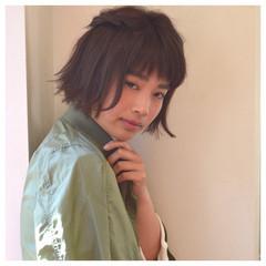 前髪あり ヘアアレンジ ストリート ボブ ヘアスタイルや髪型の写真・画像