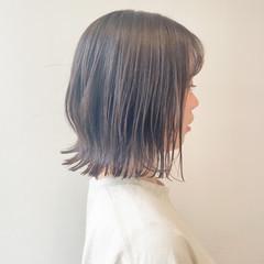 ミルクティーベージュ ミニボブ ボブ オリーブグレージュ ヘアスタイルや髪型の写真・画像