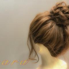 まとめ髪 ヘアアレンジ お団子 女子会 ヘアスタイルや髪型の写真・画像