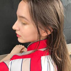 抜け感 透明感 ロング パーマ ヘアスタイルや髪型の写真・画像