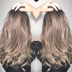 透明感 秋 リラックス アウトドア ヘアスタイルや髪型の写真・画像