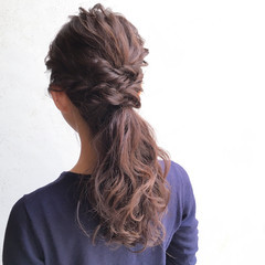 花嫁 暗髪 ヘアアレンジ ゆるふわ ヘアスタイルや髪型の写真・画像