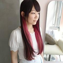 大人かわいい ピンク ロング ガーリー ヘアスタイルや髪型の写真・画像