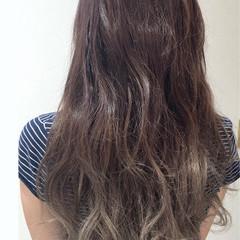 ピンクアッシュ ラベンダーアッシュ グレージュ ロング ヘアスタイルや髪型の写真・画像