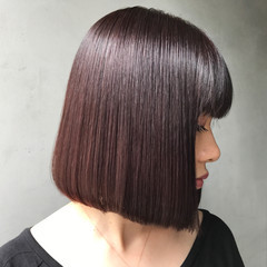 切りっぱなし ワンレングス 艶髪 ナチュラル ヘアスタイルや髪型の写真・画像
